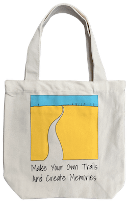 Showing the Tote Bag that is for sale in my shop